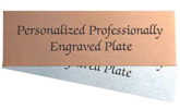Professional Engraved Plate