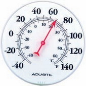 Rosierra Dial Thermometer (8in Basic ) (Indoor or Outdoor) - UCN5536