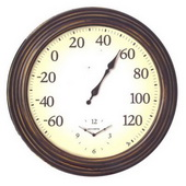 Emperor Classic All-In-One Clock and Thermometer (Indoor or Outdoor) - UCN5209