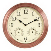 Granville Copper Wall Clock (Indoor or Outdoor) - UCN5245