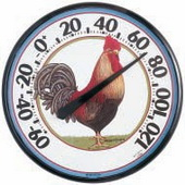Middlesbrough Designer Edition 12.5in Rooster Thermometer (Indoor or Outdoor) - UCN5371