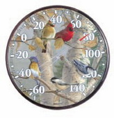 Lawrence 12.5in Songbirds Thermometer (Indoor or Outdoor) - UCN5329