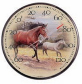 Levitown 12.5in Horses Thermometer (Indoor or Outdoor) - UCN5338