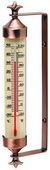 Magnolia 10 3/4in Weathered Copper Finish Enclosed Tube Thermometer (Indoor or Outdoor) - UCN5359