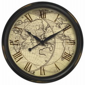 Hampton 24in Wall Clock Map - TFT5278