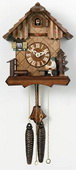 14in Moving Beer drinker Raises His Mug. German Black Forest Cuckoo Clock 1 Day Chalet - NVC6248