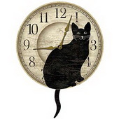 Oxford 14in Pendulum Clock Cat Tail - TFT5473