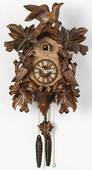 21in Leaves & Birds & Nest German Black Forest Cuckoo Clock 1 Day Traditional - NVC6218