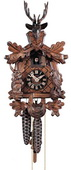 Authentic German Neustadt 15in Deer & Animals 1 Day Traditional Black Forest Cuckoo Clock - NYC1473