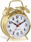 Reginald Brass Finish Keywound Alarm Clock - UCN5527