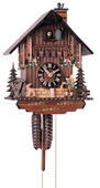 16in Moving Chimney Sweep Moving Clock Peddler German Black Forest 1 Day Cuckoo Clock - NYC1374