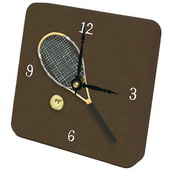 PLS Jeremiah Tennis (Modern Racket) Desktop Clock - PLS5282