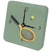 PLS Jennifer Tennis Desktop Clock - PLS5285