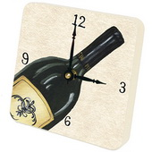 PLS Brianna Bottle of Red Desktop Clock - PLS5360
