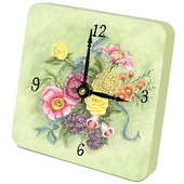 PLS Brooke Bouquet Desktop Clock - PLS5357