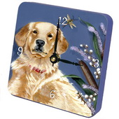 PLS Isabella Retriever Desktop Clock - PLS5270