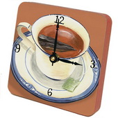 PLS Daisy Cup of Tea Desktop Clock - PLS5378