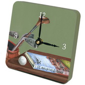 PLS Elizabeth Green Golf with Book and Clubs Desktop Clock - PLS5402