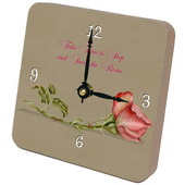 PLS Jesse The Rose Desktop Clock - PLS5279