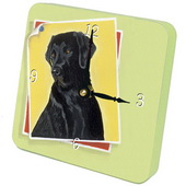 PLS Briana Black Lab Desktop Clock - PLS5363