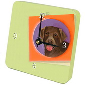 PLS Carlos Chocolate Lab Desktop Clock - PLS5345