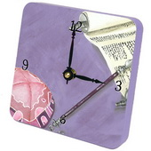 PLS  Her Bat Mitzvah Desktop Clock - PLS5399