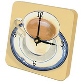 PLS Christopher Coffee Cup Desktop Clock - PLS5333