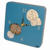 PLS Jackson Seashells Desktop Clock - PLS5315