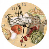 Angela 10in Wall Clock, Recipes Round Clock - PLS5150