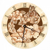 Amy 10in Wall Clock - PLS5183