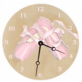 PLS Alexander 10in Wall Clock, Ballet Round Clock - PLS5192