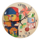 PLS Antonio 10in Wall Clock, Toys Round Clock - PLS5162