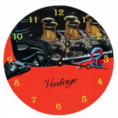 PLS Arianna 10in Wall Clock, Vintage Engine - PLS5168