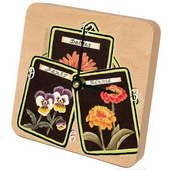 PLS Diana Flower Seed Packets Desktop Clock - PLS5423
