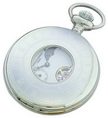Charles Hubert Premium Pocket Watch 17 Jewel Mechanical - DCH5089