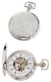 Charles Hubert Classic Pocket Watch 17 Jewel Mechanical - DCH5185