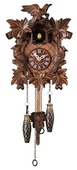 15in Leaves & Birds German Black Forest Cuckoo Clock Quartz Traditional - NYC1545
