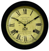 Eastbourne 18in Black Vintage Port Wall Clock - UCN5197