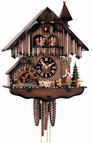 Authentic German Neustadt 18in Moving Bell Ringer 1 Day Musical Black Forest Cuckoo Clock - NYC1215