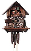 Authentic German Neustadt 17in Moving wood chopper 1 Day Music Black Forest Cuckoo Clock - NYC1263