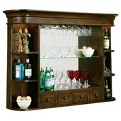 Howard Miller Niagara Deluxe Rustic Cherry Wooden Bar Hutch - CHM1428