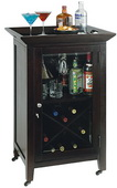 Howard Miller Deluxe CHM1734 Black Coffee Portable Wine Console