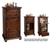 Howard Miller Deluxe CHM1412 Revolving Hide-A-Bar Door Wine & Spirits Cabinet