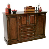 Howard Miller CHM1304 Deluxe Americana Cherry Hide-A-Bar Console Bar