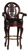 Howard Miller Niagara Deluxe Rustic Cherry Wooden Bar Stool - CHM1688