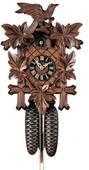 20in Leaves & Bird German Black Forest Cuckoo Clock 8 Day Traditional - NYC1440