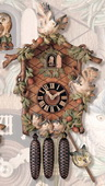 25in Owl Limited Edition German Black Forest Cuckoo Clock 8 Day Musical Chalet - NYC1029