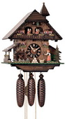 Authentic German Neustadt 18in Moving Bell Ringer 8 Day Musical Black Forest Cuckoo Clock - NYC1098