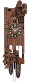 23in Owls German Black Forest Cuckoo Clock 8 Day Traditional - NYC1236