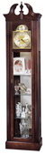 Howard Miller Superb Traditional Curio Grandfather Clock Quartz Cherry (Made in USA) - CHM1468